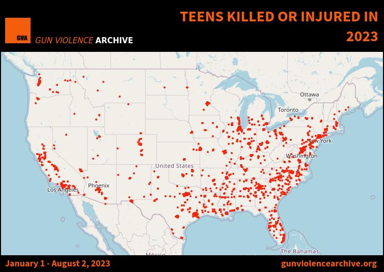 Teens Killed or Injured in 2017