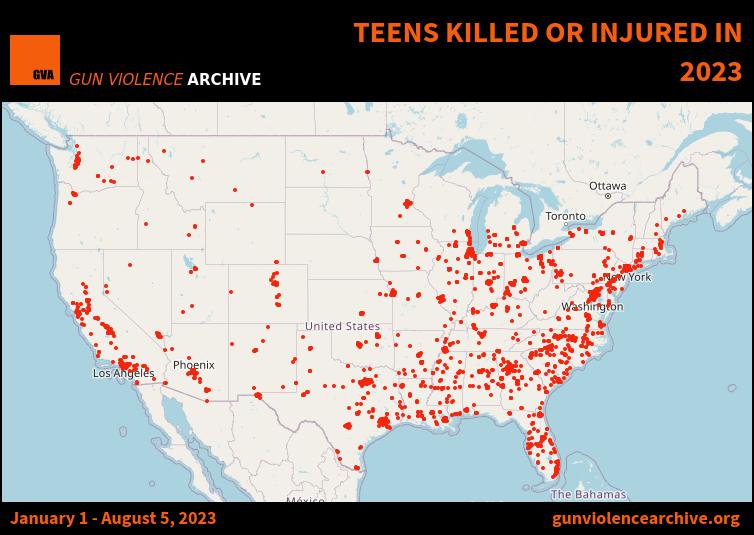 Teens Killed or Injured in 2019