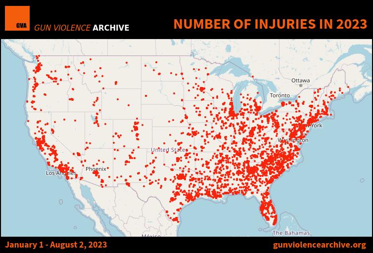 Number of Injuries in 2019