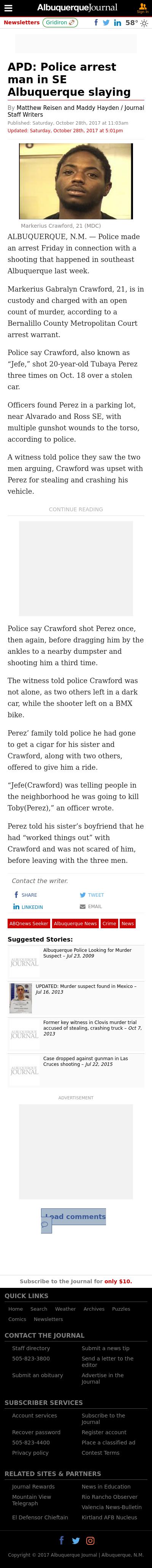 Albuquerque Police Reports