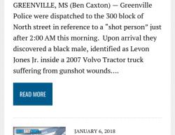 1-6-18 Mississippi Greenville 1-0