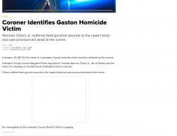 7-10-18 South Carolina Gaston 1-0
