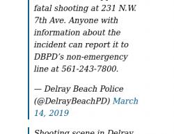 3-14-19 Florida Delray Beach 1-0