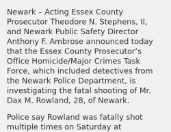 3-16-19 New Jersey Newark 1-0