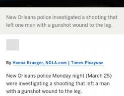 3-25-19 Louisiana New Orleans 0-1