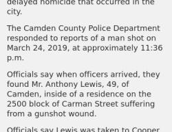 3-24-19 New Jersey Camden 1-0