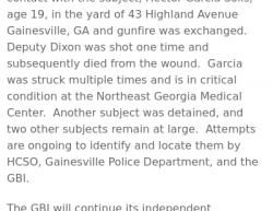 7-7-19 Georgia Gainesville 1-9