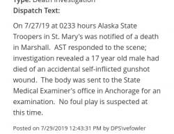 7-27-19 Alaska Saint Marys 1-0