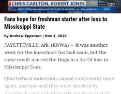 11-3-19 Arkansas Little Rock 2-0