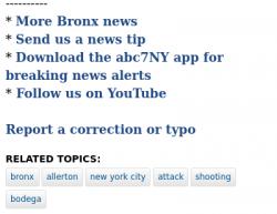 11-6-19 New York Bronx 1-0