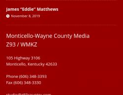 11-11-19 Kentucky Monticello 1-1