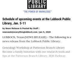 1-5-20 Texas Lubbock 0-1
