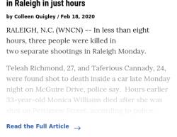 2-17-20 North Carolina Raleigh 1-1