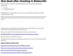 3-28-20 North Carolina Statesville 1-0
