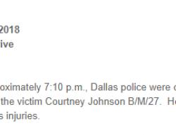 2-10-18 Texas Dallas 1-0