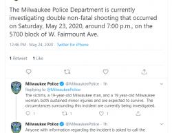 5-23-20 Wisconsin Milwaukee 2-0