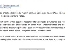 8-10-18 Louisiana Denham Springs 0-1