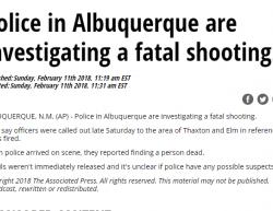 2-10-18 New Mexico Albuquerque 1-0