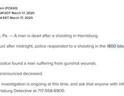 3-17-20 Pennsylvania Harrisburg 1-0