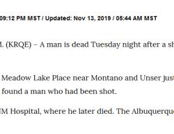 11-12-19 New Mexico Albuquerque 1-0